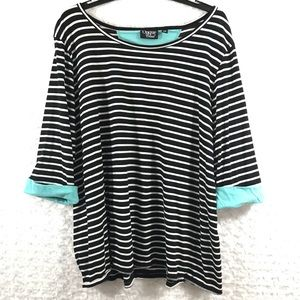 Onque Casual Womens Plus Size 2X Top Shirt Blouse
